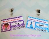 Doc McStuffins ID Badges- Party Favors