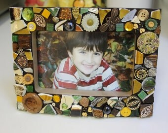 Autumn Wood Mosaic Picture Frame