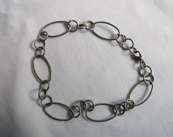 """9 1/2"""" Silver Anklet or Bracelet with Lobster Claw Clasp, Bracelet, Anlet, Silver, Lobster Claw, Chain"""