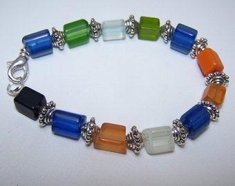Colorful glass bracelet