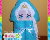 Frozen's Queen Elsa hooded towel - can be personalized
