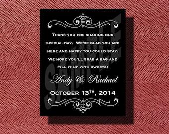 Printable Wedding Candy Buffet Sign