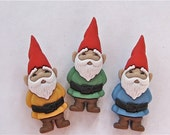 Garden Gnomes Craft Novelty Sewing Buttons Dress It Up