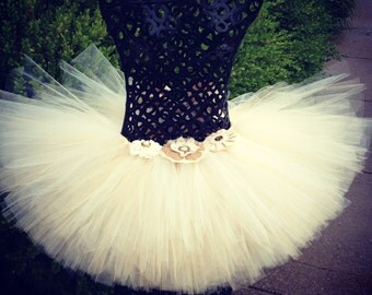 Country Couture Tutu perfect for flower girls, rustic weddings, country themed weddings