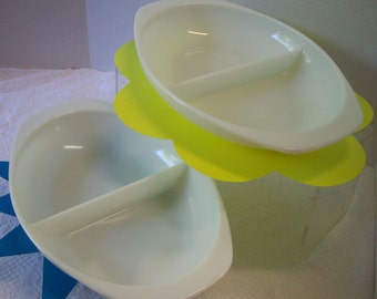 TWO Vintage Pyrex Casserole divided dishes 1980s