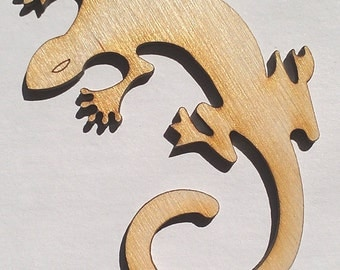 Lizard - 3 Inch, Unfinished - for Crafts, Charms, Pendants, DIY Projects SH-224