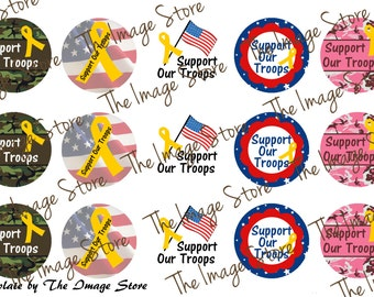 Support Our Troops Bottlecap Image Sheet
