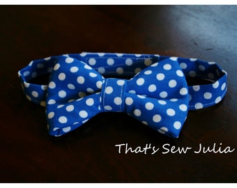 Baby Boy Polka Dot Bow Tie 6m-24months (Many colors to choose from)