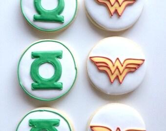 Super Hero Cookie Favors