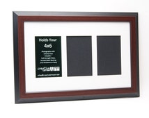 Mahogany Picture Frames with 3 4 5 6 7 8 9 10 Opening Collage Mat to Hold 4x6 Photographs