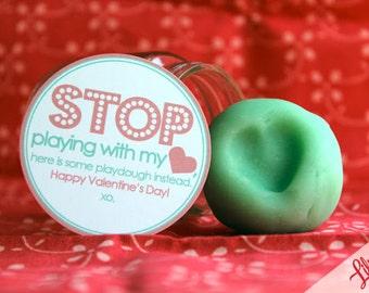 PRINTABLE  Playdough Valentine Tag : INSTANT DOWNLOAD 8.5x11