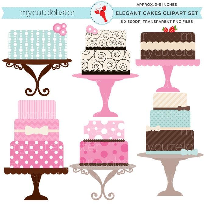 Cakes Clipart Set clip art set of elegant cakes personal