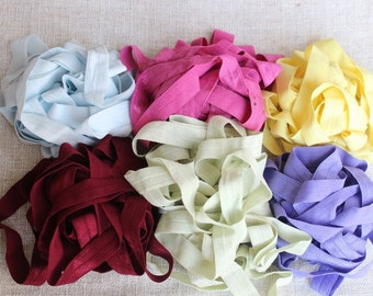 Fold over elastic  6  colors 2 yards  of each color 5/8 wide