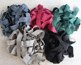 Fold over elastic  5  colors 2 of each color 5/ 8 inch wide