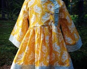Peppers Dress - size 5t heather bailey fabric lottie da pattern by brownie-goose