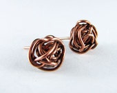 Copper Earrings Wire Wrapped Earrings Stud Copper Wire Earrings Post Wire Wrapped Jewelry Small Stud Copper Ball Earrings