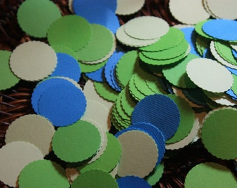 "300 1"" Scallop Circle Confetti/Birthday/Baby Shower/ScrapbookingCHOOSE COLORS"