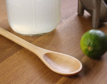 Long wooden spoon kitchen utensil stirring spoon of  Maple wood, iced tea and mojito mixer