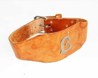 Leather Corset Belt with Letter 'B' Amazing Design Wrestling Heavyweight Belt