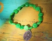Virgin of Guadalupe Verde Bracelet