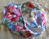SassyCloth one size pocket diaper with Hawaiian PUL print. Made to order.