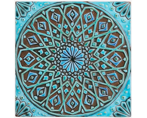 marokkanische wand h ngen hergestellt aus keramik au enwand. Black Bedroom Furniture Sets. Home Design Ideas