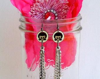 Dead Girl Chain Dangle Earrings
