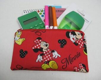 Minnie Zipper Pencil Case