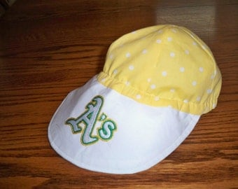 Oakland Athletics baby baseball cap Oakland A's baby Oakland A's toddler Oakland As child ball cap with machine embroidered team logo