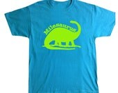 Personalized Dinosaur Brontosaurus Shirt for Kids - Dinosaur Name- Pick your colors!
