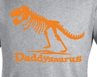 Daddysaurus T Rex Shirt - Dad dinosaur tshirt - pick your colors!