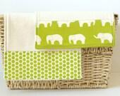 Organic Burp Cloth Set - Green