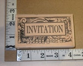 RESERVED FOR MISS M* Rubber Stamp - Stampington - Invitation by Michelle Ward