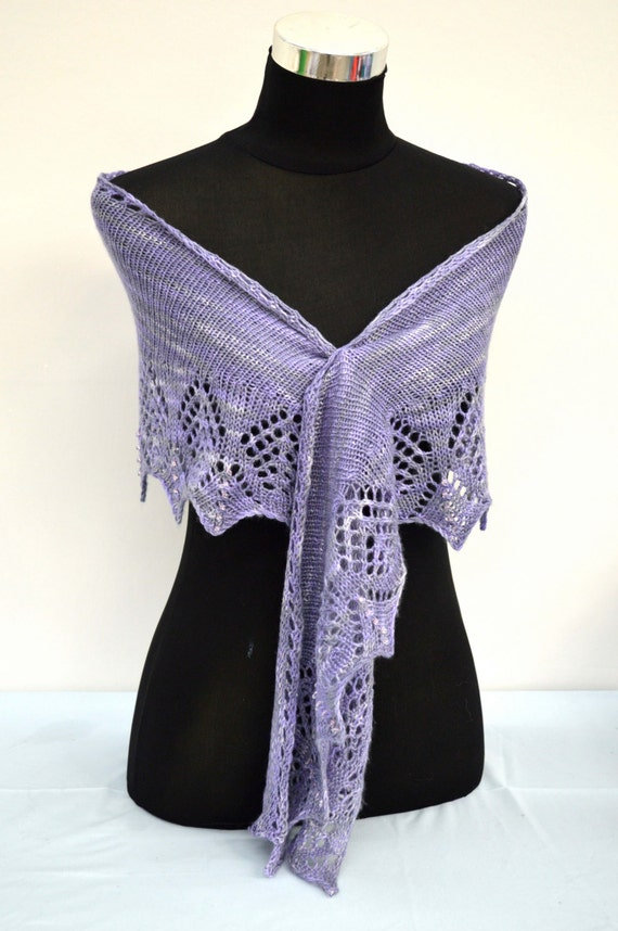 Hand Knitted 4 ply  Wrap/Scarf Pattern in pdf format