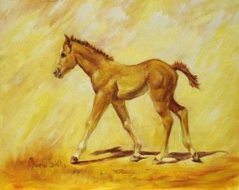 Strutin' Original Oil Painting