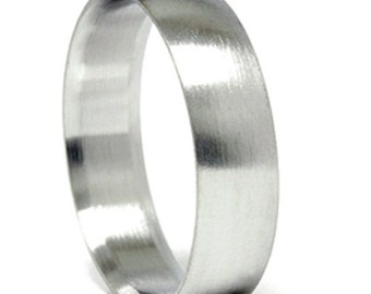 Mens 14k White Gold 6MM Designer Chad Ra Wedding Band