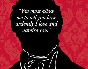 Jane Austen - Mr Darcy Proposal - Pride and Prejudice Art Print - Book Lovers Gift - JAPP003