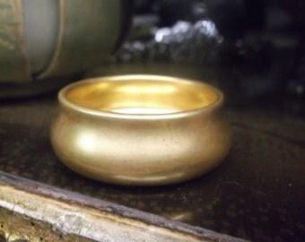 Gold Porcelain Salt Cellar