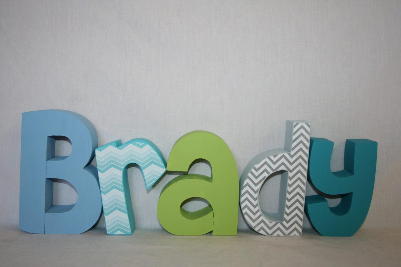 Nursery Letters Ombre Letters 5 Letter Set Wood Letters