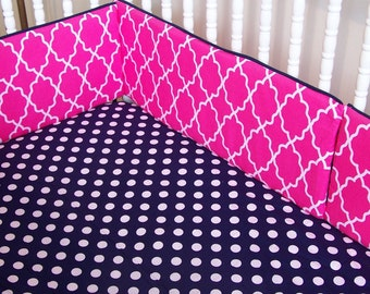 Custom Baby Crib Bedding- Design Your Own Baby Bedding- ADD a ZIPPER to a BUMPER