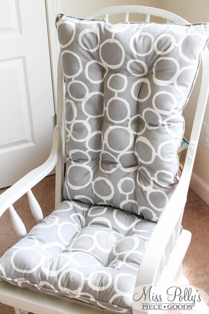 Custom chair cushions glider cushions rocking chair - Rocking chair de jardin ...