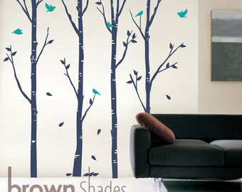Birch Tree with Birds - Nature Wall Decal