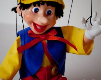 Marionette Small Cute Pinocchio Puppet (hand made in Czech Republic)