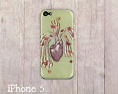 heart pouring with love iPhone Case, iphone cover, iPhone 4 case, iPhone 4s case, iPhone 5 case, hard case, Paper Quilling, paper art print
