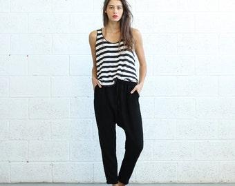 SALE!Drop Crotch Pants- Black.