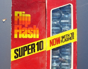 Vintage Unopened Package of Flip Flash Flash Bar - 10 flashes