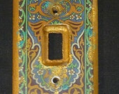 Light switch cover, Moroccan inspired