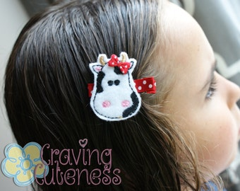 Cow Hair Clip - Meet Miss Corabelle