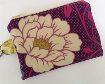 Pretty Peonies Small Zippered Pouch 2