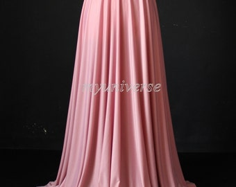 Maxi Skirt Full Length Skirt Jersey Aline Long Skirt Dusty Pink Peach Skirt Girl Ladies Women Skirt